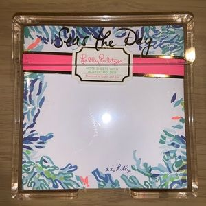 Lilly Pulitzer Seas The Day Loose Paper Notes New